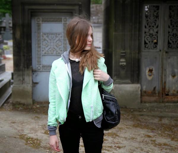 fashion salad jacket jeans sweater