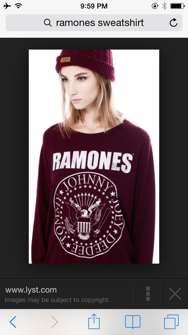 colorful ramones sweater