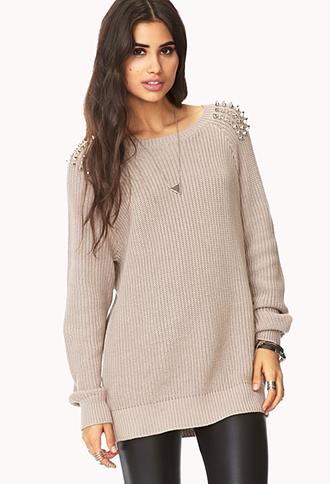Studded Shoulder Sweater | FOREVER21 - 2058959635
