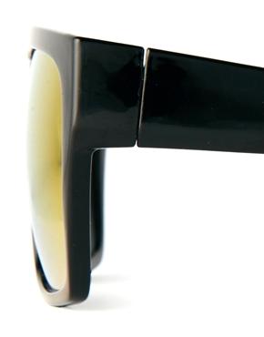 ASOS | ASOS Flat Brow Sunglasses with Color Mirror lens at ASOS