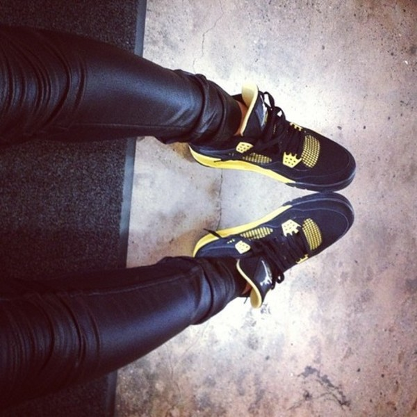 shoes yellow high top sneakers gold