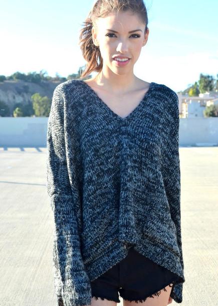sweater v neck v-neck sweater v neck v neck black grey grey grey sweater grey sweater knitwear knit sweaters knitted sweater black sweater oversized sweater