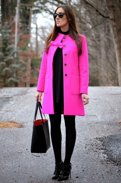 classroom couture blogger coat dress tights shoes bag