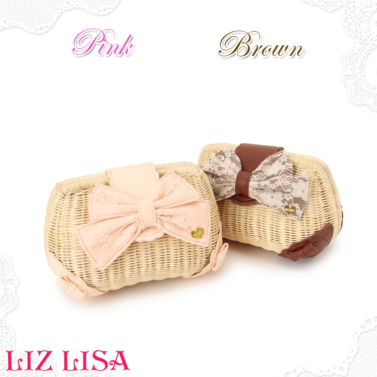 Rattan bag liz lisa sweet gentlewomen beach knitted cross body bow straw bag-inMessenger Bags from Luggage & Bags on Aliexpress.com