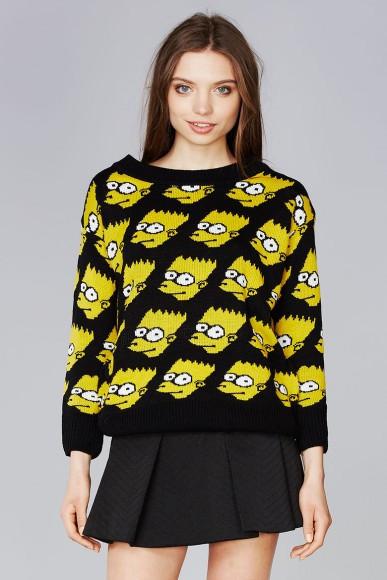 Bart Simpson Wool Knit Sweater – Club Honorée