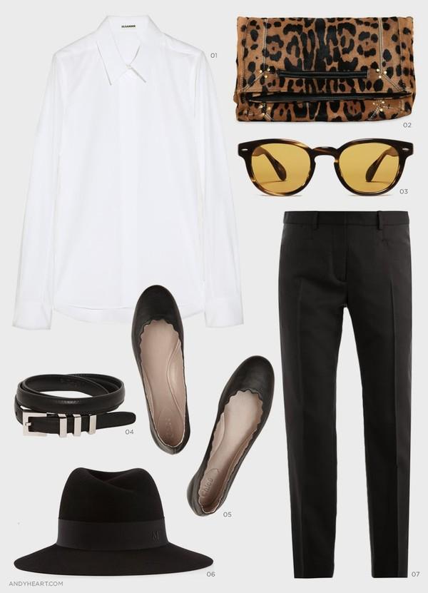 andy heart shirt bag sunglasses belt hat pants