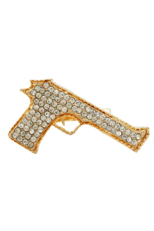 Gold Gun Ring (IN THE STYLE OF KENDELL AND KYLIE) - ✰ ☮ ✝ Dollface London Online Jewellery Boutique ✝ ☮ ✰
