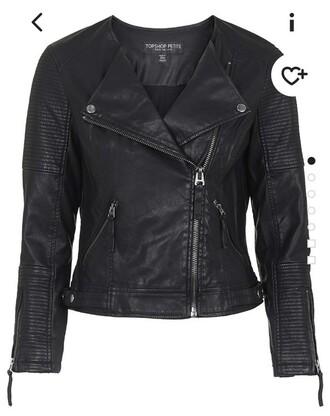 jacket black leather jacket petite
