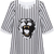 ROMWE | Tiger Head Print Contrasting Stripe T-Shirt, The Latest Street Fashion