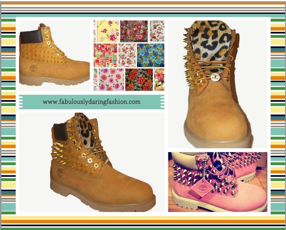 Custom Timberland Boots Spikes Cheetah Leopard Print Sizes 5 13   eBay