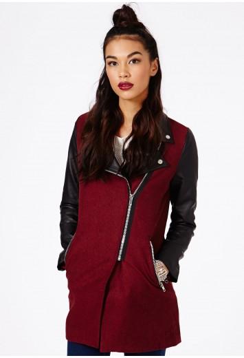 Emila Zip Detail Biker Jacket  - Coats & Jackets - Missguided