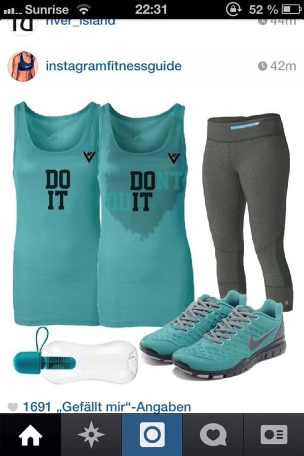 shirt fitness workout sweat blue