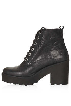 APPLES Chunky Lace Up Boots - Boots  - Shoes  - Topshop