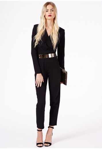 Granata Cross Over Belted Jumpsuit - Jumpsuits & Playsuits - Clothing - Missguided