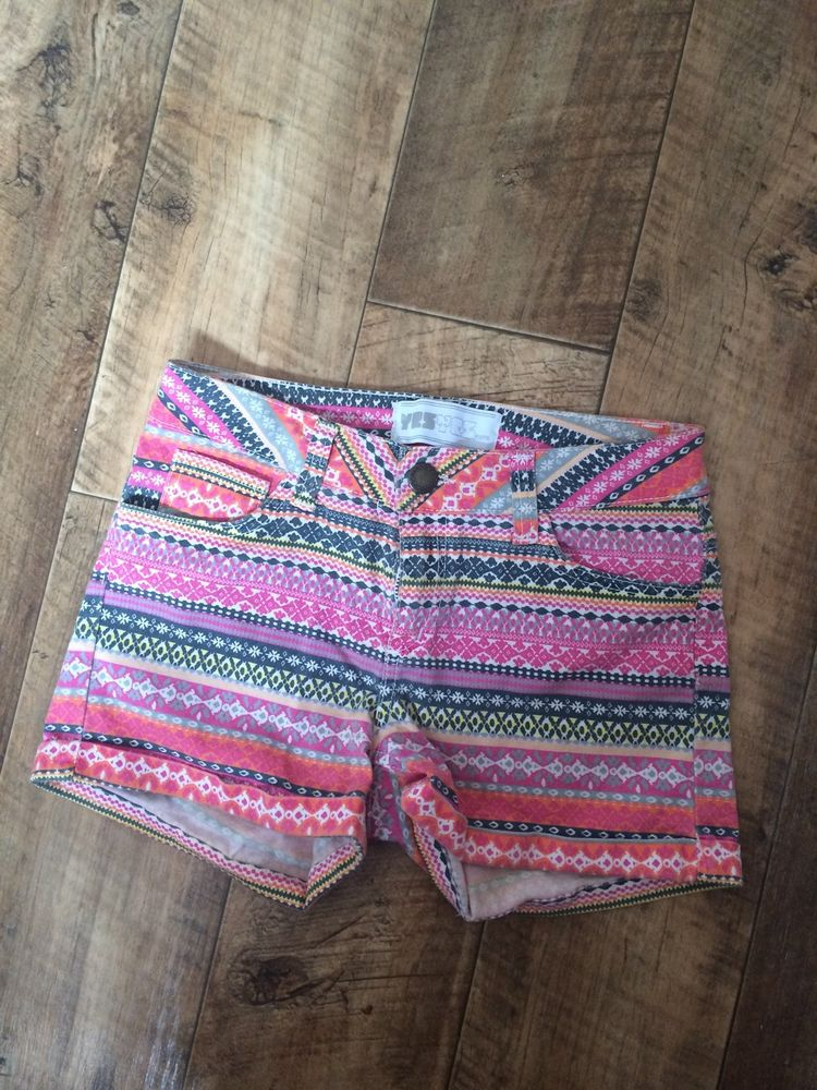 Pink/orange Summer Shorts In Aztec Pattern Size 8 New Look | eBay