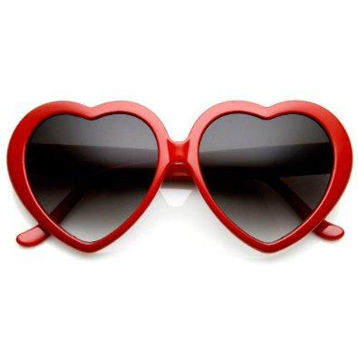 Amazon.com: Lolita Heart Shaped Sunglasses In Red: Shoes