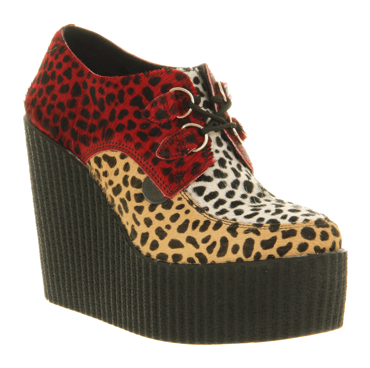 Womens Underground Creeper Wedge Triple Leopard Heels | eBay