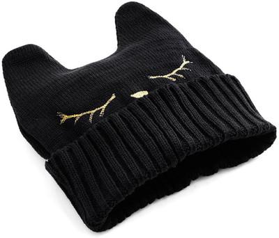 Cat Nap Hat in Black - Polyvore