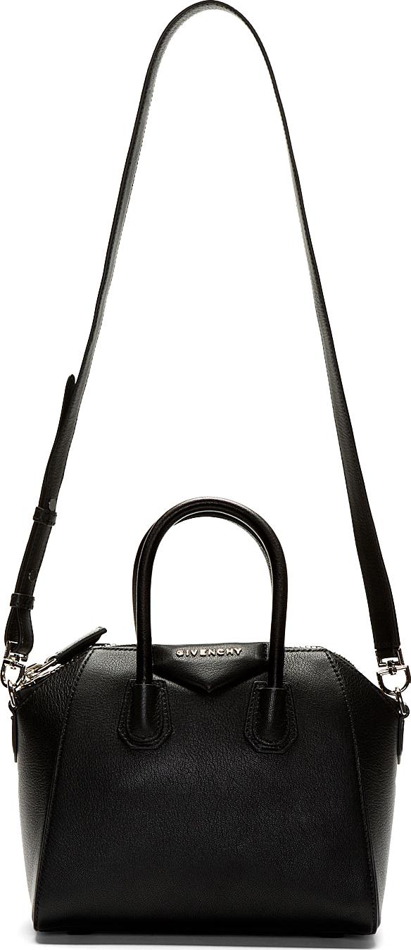 Givenchy - Black Calfskin Antigona Sugar Mini Shoulder Bag   SSENSE