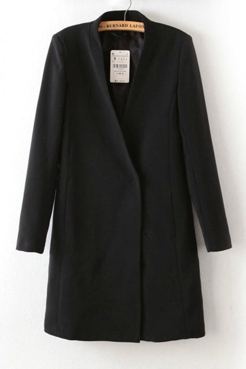 New Vintage Simple Loose Ladies Overcoat,Cheap in Wendybox.com