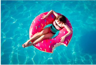 swimwear donut pink