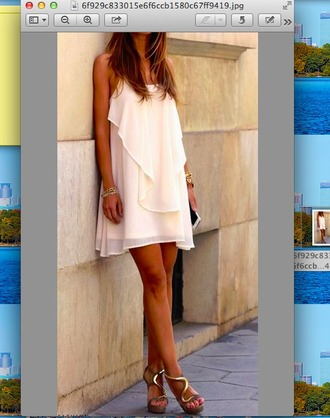 dress shift dress layered white dress white off-white tank dress layered dress shift formal