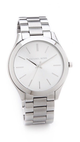 Michael Kors Silver Slim Runway Watch | SHOPBOP