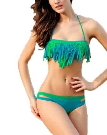 Qiyun 2014 HeißE Sexy Mädchen / Frauen Bikini Set Push-Up- Bh Bademode Badeanzug 2 Stück: Amazon.de: Bekleidung
