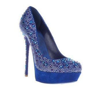 Sexy High Heel Shoes Womens 2014 Platforms Rhinestone Pumps High Heels Wedding Shoes Crystal Silver Blue Black Free Shipping-in Pumps from Shoes on Aliexpress.com