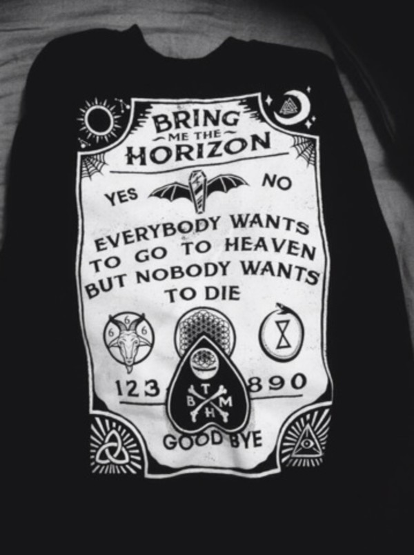 shirt bring me the horizon fucking awesome band merch ouija board shirt
