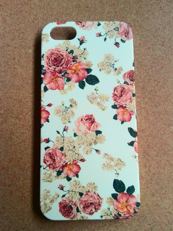 White Fancy Vintage Retro Flowers Floral Pattern Cover Skin Case for iPhone 5 | eBay