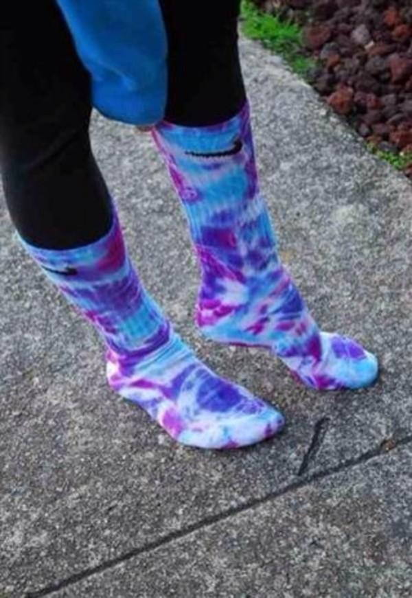 shoes socks tie dye