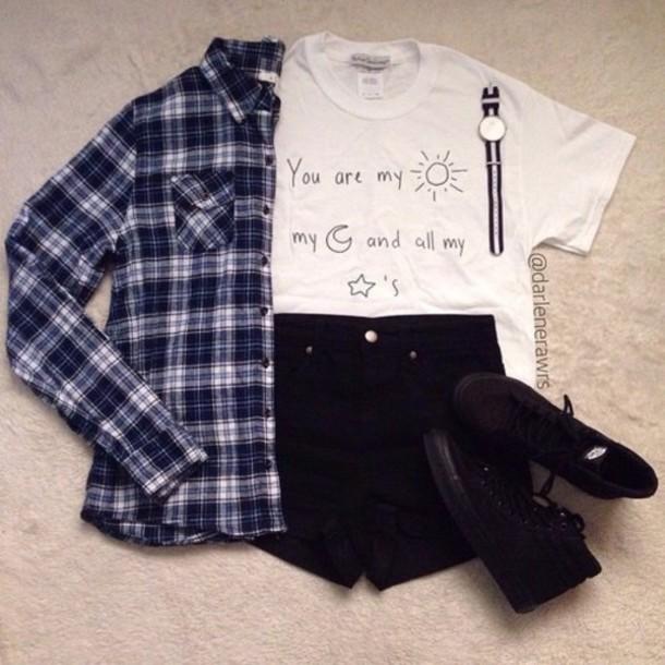 shorts top shirt