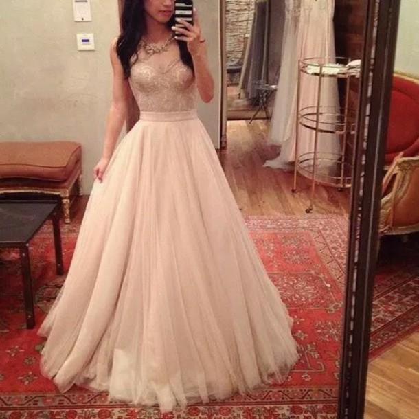 dress ros? prom dress long dress floor length dress nude pink long prom dress 2016 prom dress v-neck prom dress tulle prom dress elegant prom dress nude dress gown