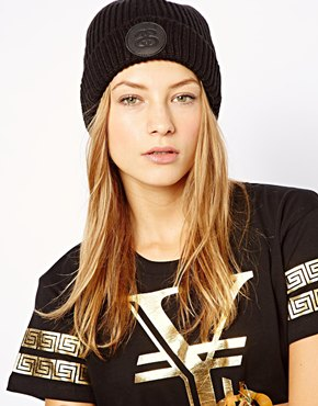 Stussy | Stussy Leather Patch Beanie at ASOS