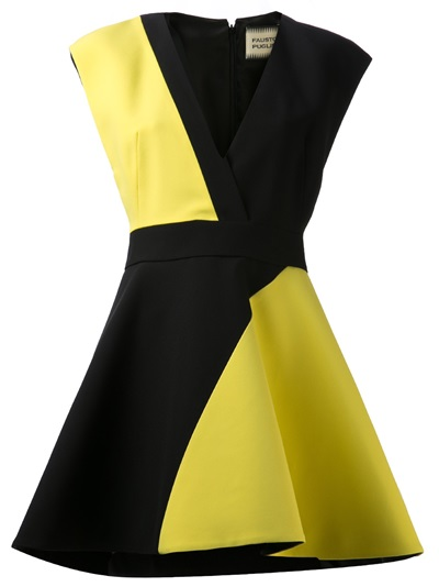 Fausto Puglisi Contrast Dress - H. Lorenzo - Farfetch.com