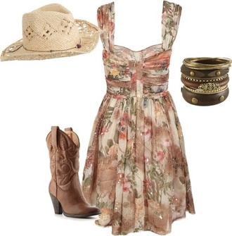 country floral western dress western country dress