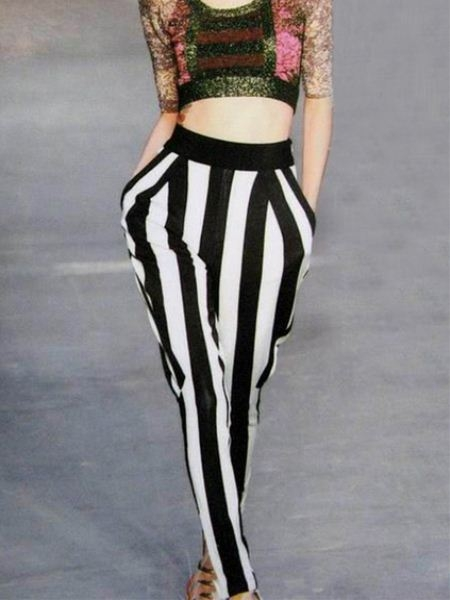 Black And White Striped Harem Pants | Choies
