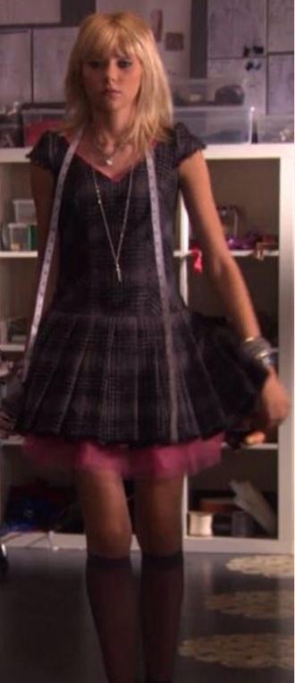 dress gossip girl jenny humphrey plaid dress mini dress