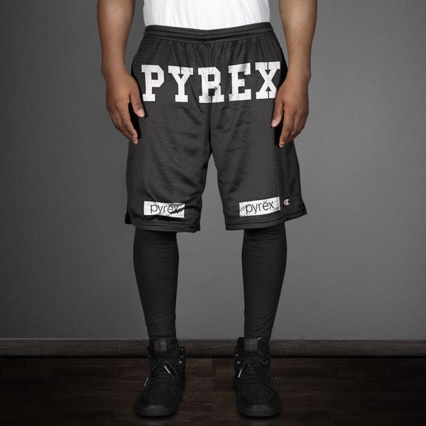 shorts pyrex pyrex kanye west black black shorts