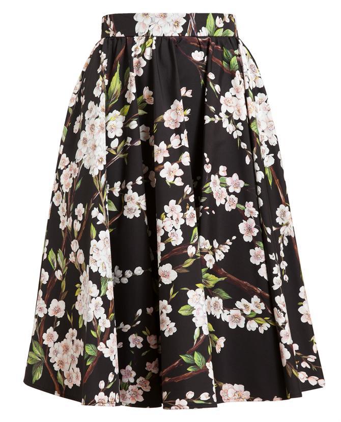 DOLCE & GABBANA   Floral Cotton Skirt   Browns fashion & designer clothes & clothing