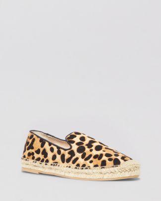 STEVEN BY STEVE MADDEN Espadrille Smoking Flats - Lanii Leopard Smoking Shoe | Bloomingdale's