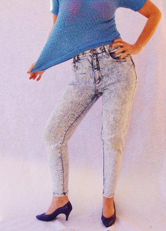 High Waisted 80s Acid Wash Jeans. Jordache by TaborsTreasures