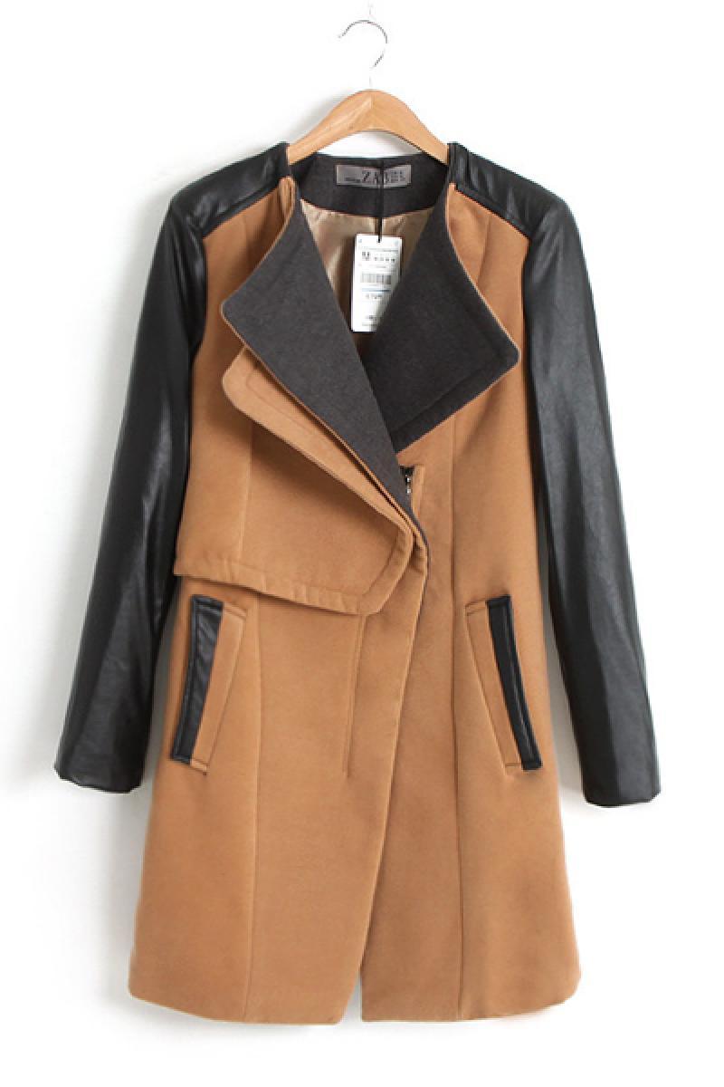 New Autumn & Winter Euroamerican Woolen Overcoat,Cheap in Wendybox.com