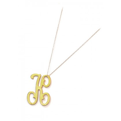 Colette Single Initial Necklace by Moon and Lola   Charm & Chain