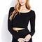 Basic long sleeve crop top | forever21 - 2000109850