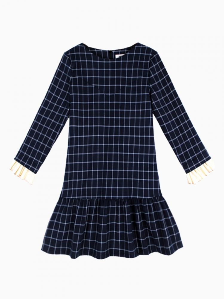 Plaid Dress With Peplum Hem | Choies