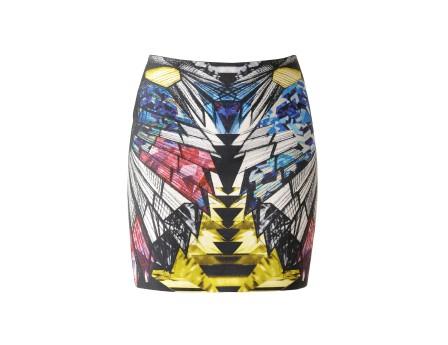 Estee Skirt - short skirt printed right - Black - Skirts - Women - IRO