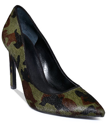 Nine West Cameron Silver Jace Single Sole Pumps - Shoes - Macy's