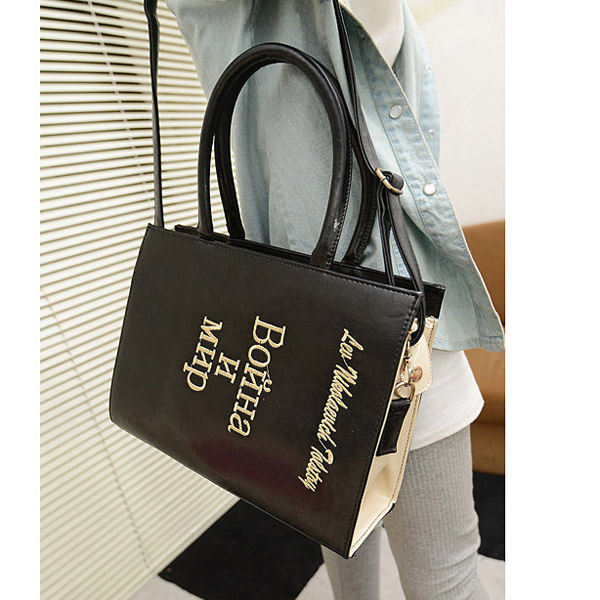 New Fashion Dictionary Handbag Embossing Shoulder Mesenger Bag Women Handbag Bla Free Shipping!  - US$23.65